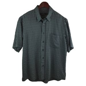 Bugatchi Uomo Black Short Sleeves Shirt Men Size L
